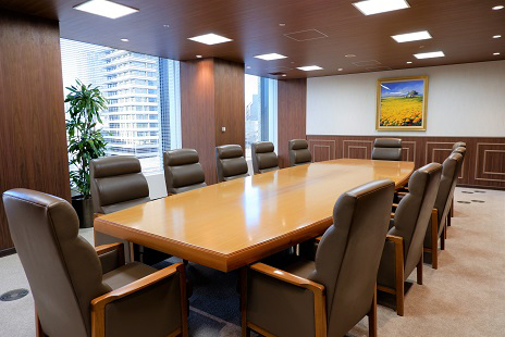 大阪事務所の応接室の写真