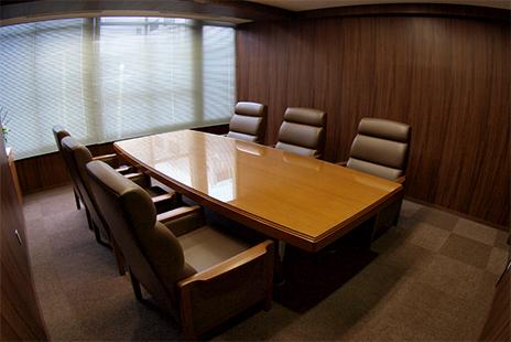 札幌事務所の応接室の写真