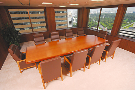 東京弁護士事務所の応接室
